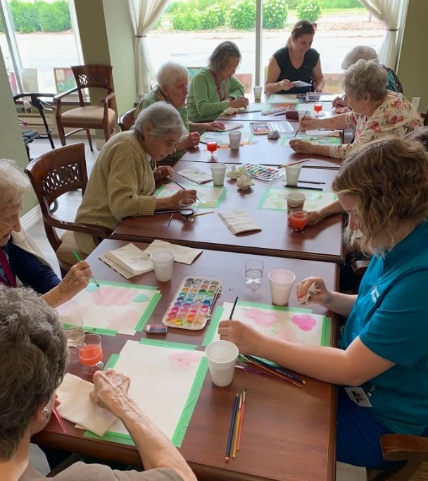 Residents from Chartwell Oakville enjoying the artful aging program