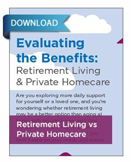 Evaluating the Benefits of Retirement vs Homecare Infographic print version