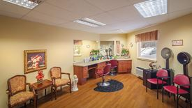 lovely hair salon at Chartwell Collegiate Heights Retirement Residence