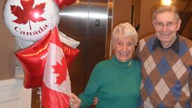 residents celebrating Canada at Chartwell Deerview Crossing Retirement Residence