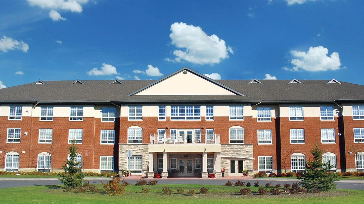 Beautiful exterior shot of Chartwell Empress Kanata Retirement Residence