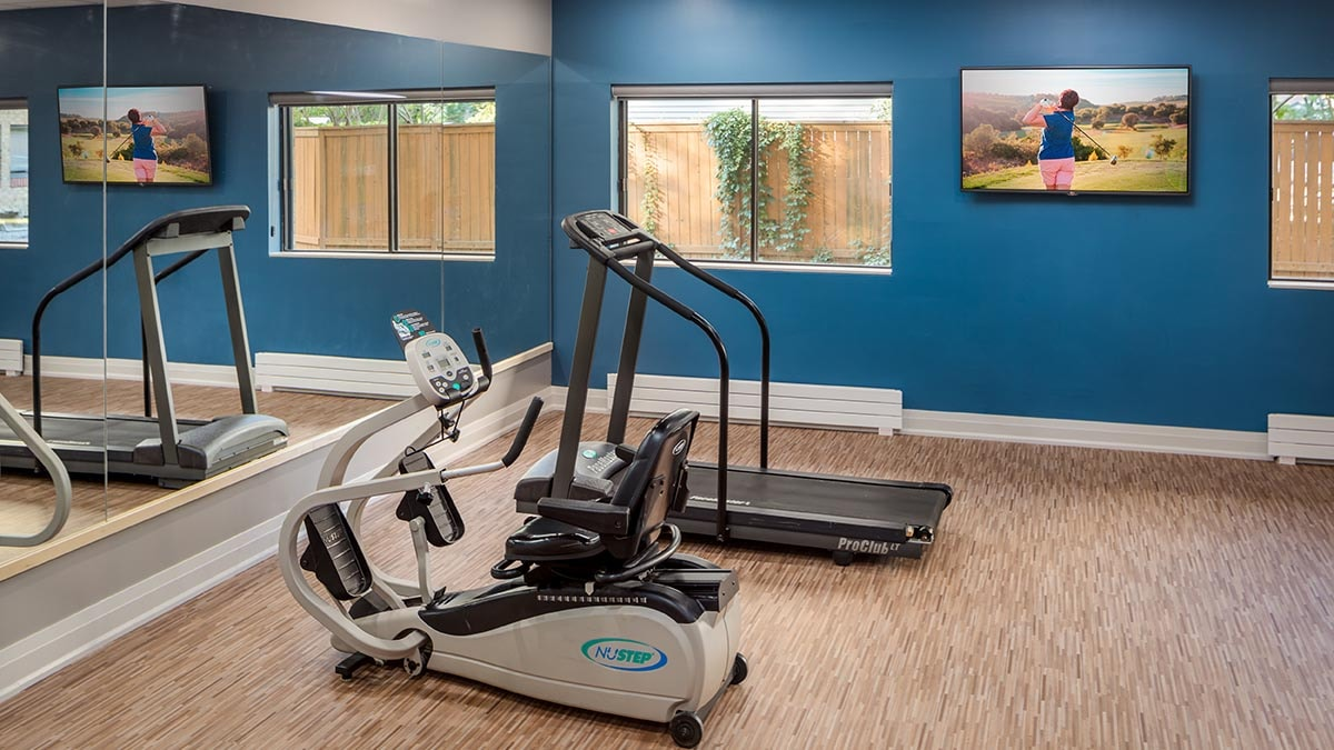 gym at Chartwell New Edinburgh Square Retirement Residence