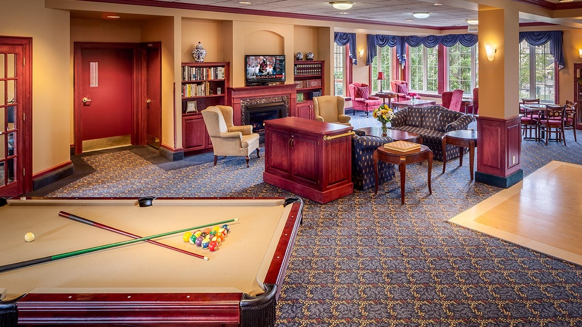 games room at Chartwell Terrace on the Square Retirement Residence