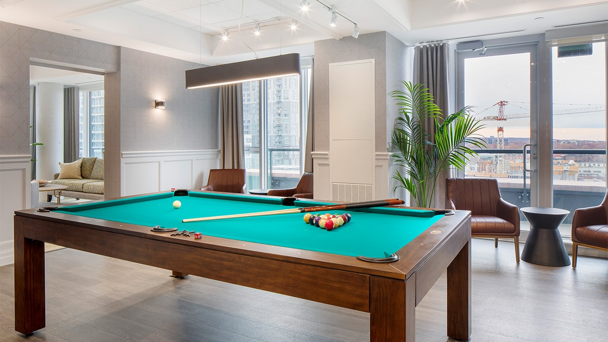 Beautiful, bright room with billiards table at The Sumach by Chartwell