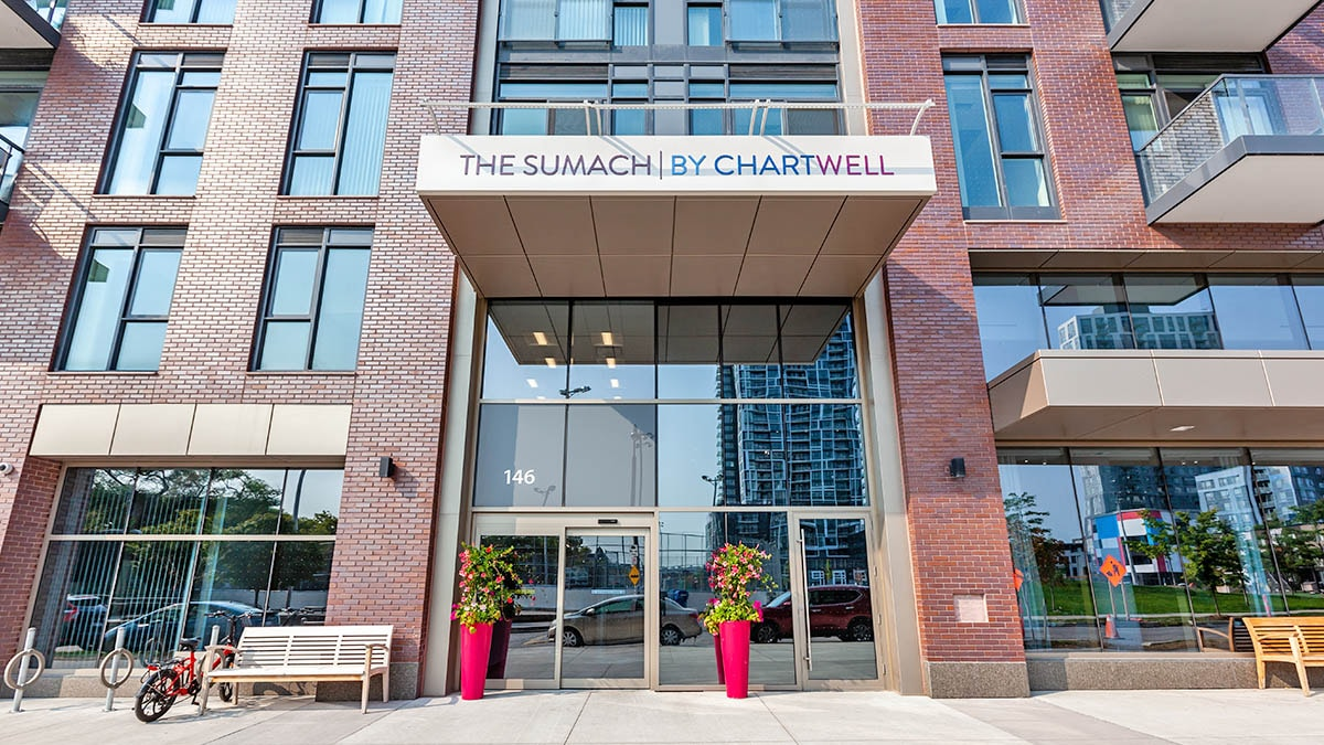Front entrance of The Sumach by Chartwell