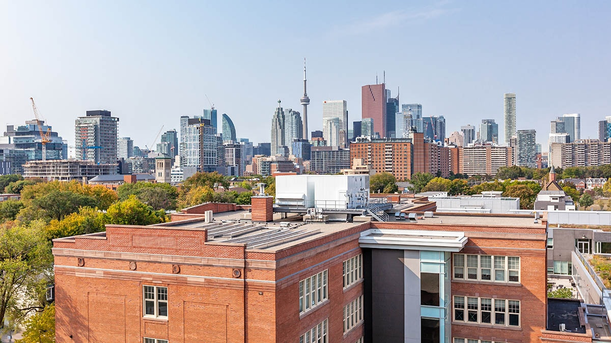 Beautiful shot of the Toronto Skyline form The Sumach by Chartwell