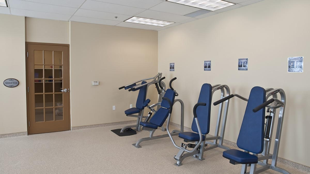 gym at Chartwell Valley Vista Retirement Residence