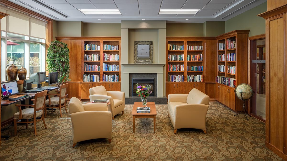 library at Chartwell Wedgewood Retirement Residence