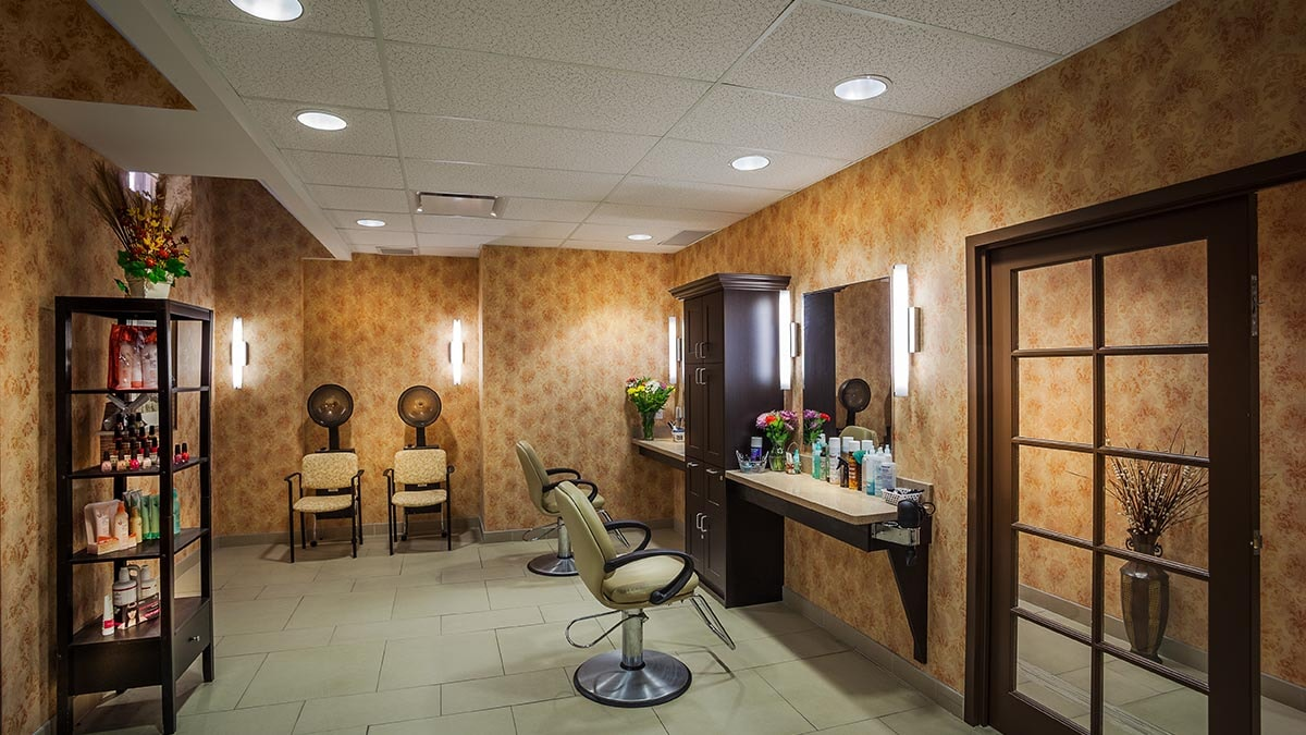 salon at Chartwell Westmount Retirement Residence