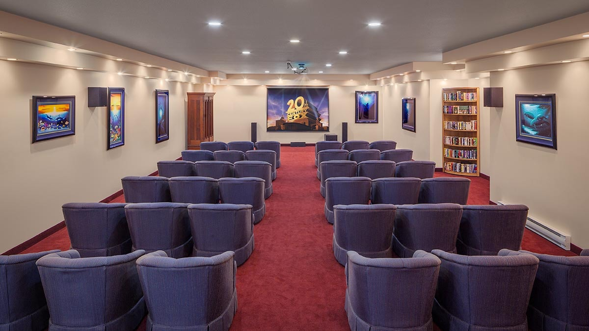 Large theatre in Chartwell Barton Retirement Residence