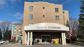 exterior front entrance of Chartwell Riverpark Retirement Residence